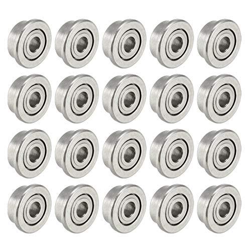 Bearings & Bushings F681XZZ Flange Ball Bearing 1.5x4x2mm Double Shielded Chrome Bearings 20pcs