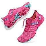 Topwolve Escarpines para Hombre Barefoot Secado Rápido Zapatos de Agua Respirable Antideslizante Zapatillas de Deportes Acuáticos Buceo Snorkel Surf Yoga,Rosa,39 EU