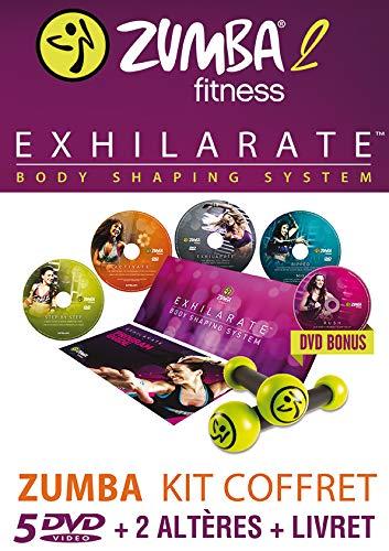 ZUMBA-2-EXHILARATE-Coffret 5 DVD+ 2 Haltères + 1 Livret-Version Française (DVD)