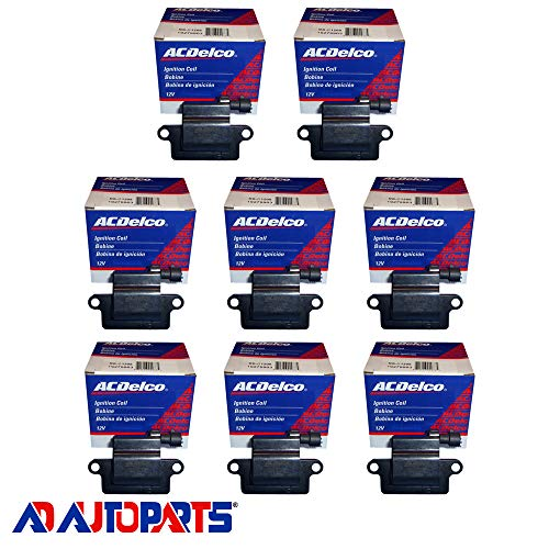 New OEM Ignition Coil Set (8) Fits LS2, LS4, LS7 Engines Square Coil 1st Design ACDelco Mexico D581
