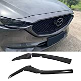 TGFOF Carbon Fiber Look Front Lower Grill Grille Trims Cover Grill Net Decoration Strip Front Grille Side Trim Accessories for Mazda CX5 CX8 2017-2019