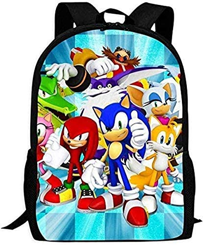 XWXBB Backpacks Laptop Backpacks Son-Ic The Hedg-Ehog Children's School Bags Printing Backpacks Kids Daypack for Boys Girls