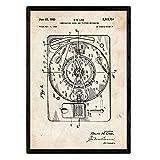 Nacnic Poster con patente de Sonido e imagen. Lámina con diseño de patente antigua en tamaño A3 y con fondo vintage
