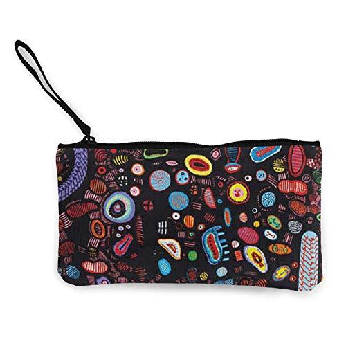 XCNGG Monederos Bolsa de Almacenamiento Shell Avant Garde Art Organism Canvas Coin Purse with Zipper Coin Wallet Multi-Function Small Purse Cosmetic Bags For Women Men