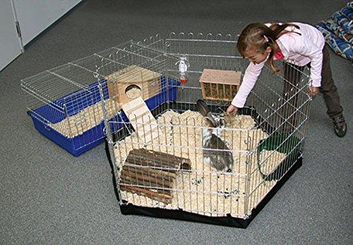 6 eckiges Freigehege mit Nylonboden für Nager (Kaninchen / Meerschweinchen) für Indoor und Outdoor