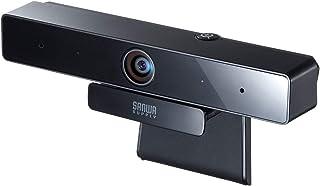 サンワサプライ WEBカメラ 500万画素 広角レンズ 有線USB接続 マイク内蔵 ブラック CMS-V51BK