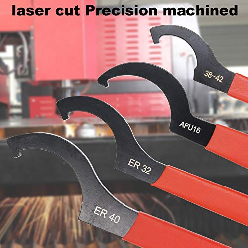 LEIMO Universal Coilover Shock Adjustment Spanner Wrench Tool Set,Motorcycle c Hook Spanner Wrench