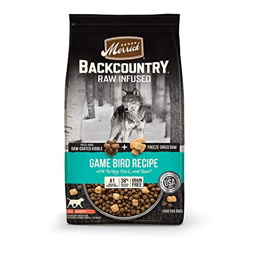 Merrick Backcountry Raw Infused Grain Free Dry Dog Food Game Bird Recipe - 20.0 lb Bag