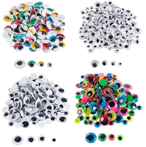 Ventcy 560PCS 6mm-14mm Plástico De Oso De Peluche Juguete Suave de los ojos y narices para hacer de juguete