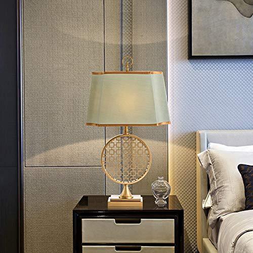 Scra AC Lámpara de mesa de estilo clásico de lujo con forma de flor redonda LED de oro para el hogar, sala de estar, dormitorio, mesita de noche, estudio, hotel, club, luz decorativa de 30 x 53 cm