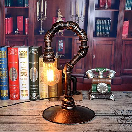 VIWIV Lámpara de Escritorio Lámpara Hierro Arte Agua Tubería de Agua Marcar Marcar Desk Lamp Personalidad Café Retro Bar Restaurante Inicio Luz Suave Lámpara de protección for los Ojos 22 *  22 *