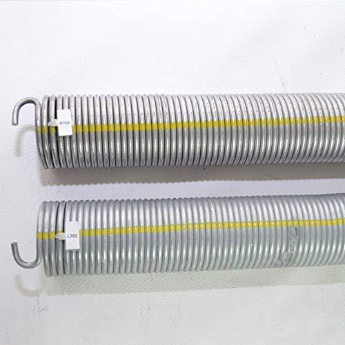 2 Stück Torsionsfeder R702 + L702 / L21 R21 für Hörmann Garagentorfeder Torfeder.