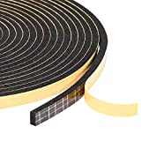 Foam Seal Tape 3 Rolls 1/4' W X 1/8' T, High Density Adhesive Foam Weather Strip Seal for Window and Door, 50 Ft Length (3 X 16.5 Ft Each)