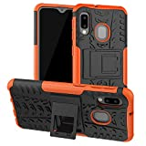 SKTGSLAMY Galaxy A10E Case, Samsung A10E Case, [Shockproof] Tough Rugged Dual Layer Protective Case Hybrid Kickstand Cover for Samsung Galaxy A10E (Orange)