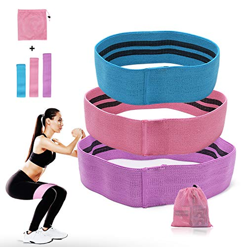 Booty Resistance Workout Hip Exercise Bands, Fitness Loop Circle Exercise Legs and Butt- Activate Glutes and Thighs - Thick, Wide, Fabric Cloth for Body Stretching, Yoga, Pilates, Muscle Training