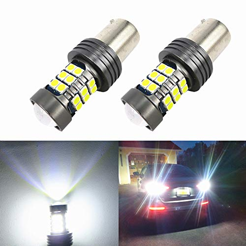 WLJH 2X BA15S 1156 LED Canbus Bulb P21W 7506 Canbus Error Free 3030SMD 12V 24V LED Light Bulbs for Car Auto Turn Signal Back Up Reverse Tail Light-2Yr Warranty