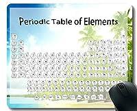 学校の総本店周期的なテーブルの要素ゲーミングマウスパッドカスタム、ステッチビーチと砂浜をテーマにしたマウスパッド