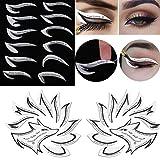 Guillala 3er Packung 12 Stil Augen Make-up Vorlage Aufkleber Prämie Augen Make-up-Tool Eyeliner Lidschatten Make-up-Werkzeug Gut für Augen Make-up Schablone