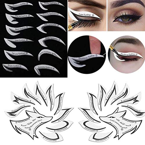 RALMALL 3 Packungen Augen Make-up Vorlage Aufkleber, Eyeline Makeup Tool, Lidschatten Makeup Gadget, für Make-up Anfänger, Quick Eye Makeup