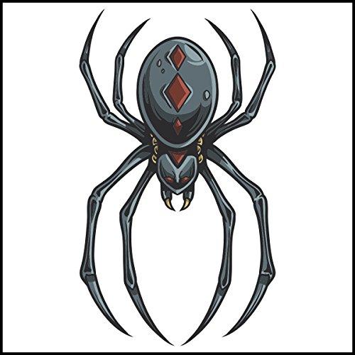 Fliesenaufkleber Fliesentattoos für Bad & Küche - Küchenfliesen für weiße einzelne Fließen empfohlen 10x10 cm - gruselige Spinne - Redback-Spinne