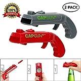 Beer Bottle Opener, Cap Gun Launcher Shooter Bottle Opener Drink Beer Bottle Openers Gun Toy for Bar Party Drinking Game