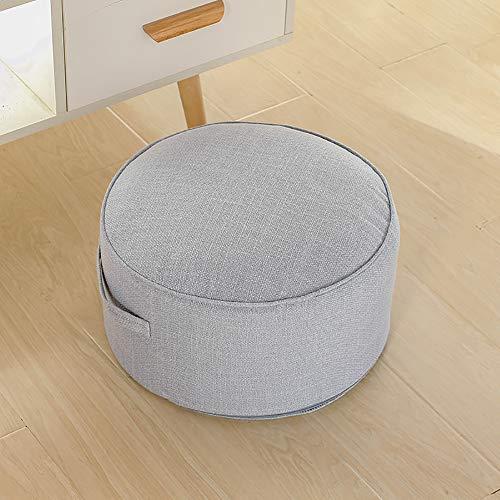 Tonda Piano Cuscino Ammortizzazione Seduta, Portatile Divano Pouf Ottoman Poggiapiedi Giapponese Futon Tatami Thick Cuscino da Terra per Soggiorno Balcone-h 43x20cm(17x8inch)
