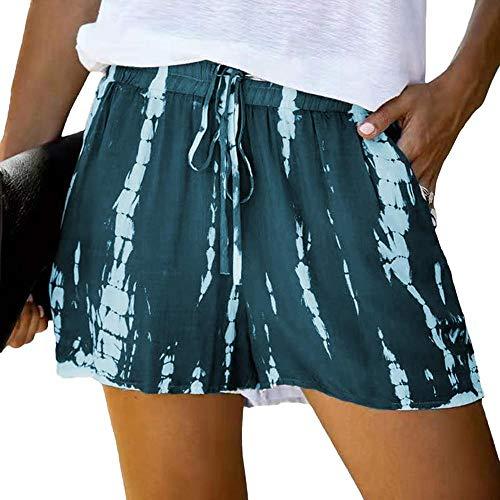 N\P Verano de las Mujeres Casual Pantalones Cortos Deportivos de las Mujeres de Cintura Alta Pantalones Cortos de Verano