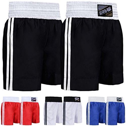 Farabi Pro Boxing Shorts for Boxing Training Punching, Sparring Fitness Gym Clothing Fairtex jiu Jitsu MMA Muay Thai Kickboxing Equipment Trunks (Black, Small)