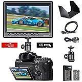 Neewer F100 7 Pouces 1280x800 IPS Dalle Moniteur de Champ Support de 4K avec Batterie Li-ION Rechargeable 2600mAh et Chargeur USB pour Appareil Photo DSLR et Caméscope