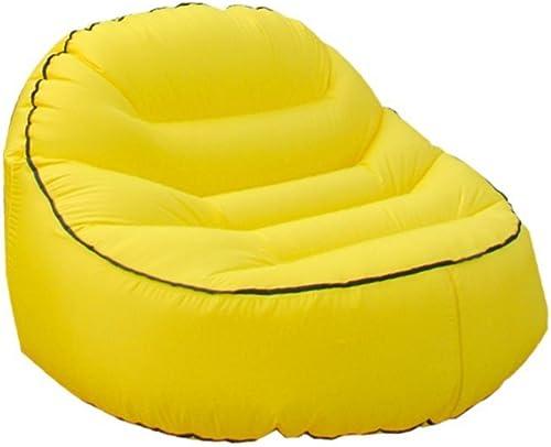 YJchairs Faules Sofa-Aufblasbarer Luft-wasserdichter Strand-tragbarer Swimmingpool, Der 200KG Tr  (Farbe   Gelb)