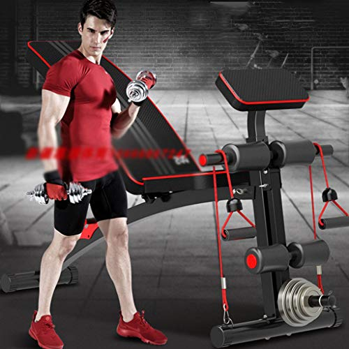 Fitness-bed-adjustable-curved-seat-10-sets-of-fitness-mode-priest-bench-dumbbell-rowing-foldable-home-version-gym-bar