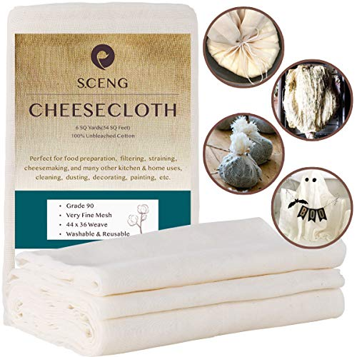 Cheesecloth, Grade 90, 54 Sq Feet, 100% Unbleached...