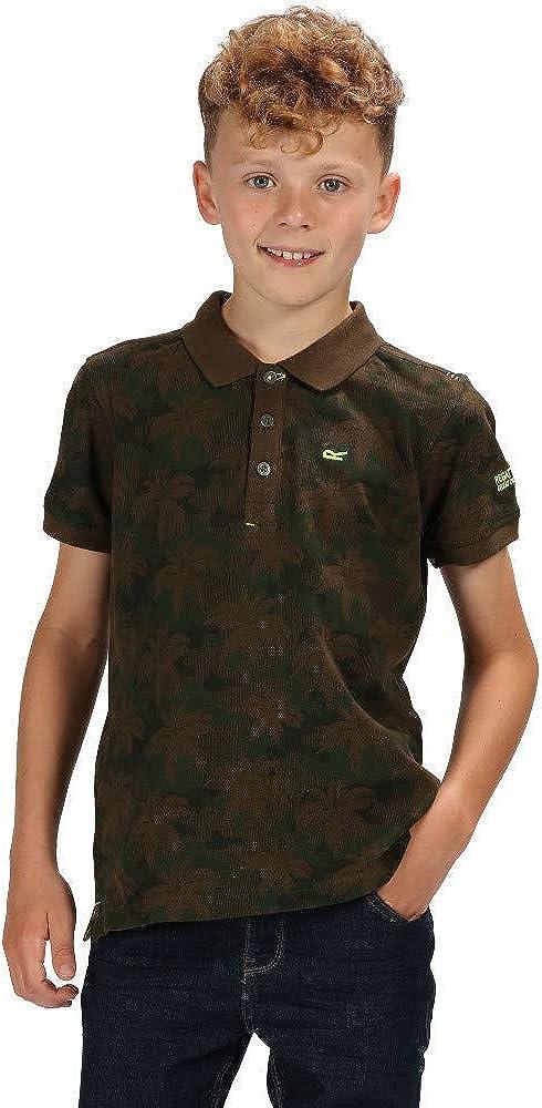 Regatta Unisex Kinder Tobin Coolweave Cotton Button Neck Polohemd