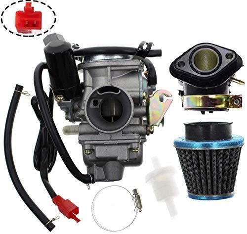hndfhblshr Carburador PD24J para GY6 125cc 150cc Go Kart Scooter 152QMI 157QMJ con Filtro de Aire