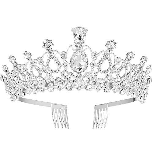 MaoXinTek Diadema Corona Tiara con Peine Hairband de Cristal Diamantes de imitación...