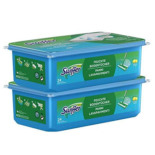 Swiffer Bodenwischer Feuchte Bodentücher Nachfüllpack mit frischem Zitrusduft 48 St., für eine schnelle und einfache Reinigung