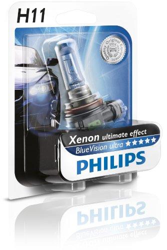 Philips 12362BVUB1 BlueVision ultra Scheinwerferlampe H11, 1 Stück im Blister