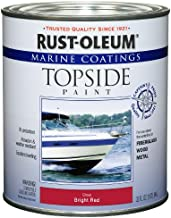 Rust-Oleum, Bright Red 207004 Marine Coatings Topside Paint, Quart, 1