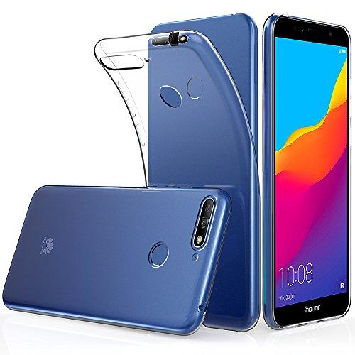 Peakally Huawei Honor 7A Hülle, Soft Silikon Dünn Transparent Hüllen [Kratzfest] [Anti Slip] Durchsichtige TPU Schutzhülle Hülle Weiche Handyhülle für Huawei Honor 7A 5.7