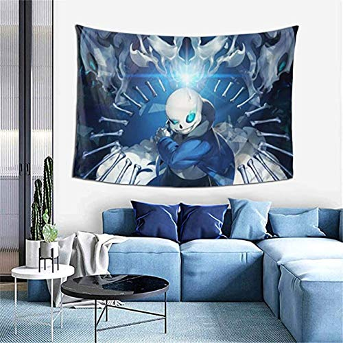 D-WOLVES Under-tale Anime Tapestry,Sa-ns Tapestry Wall Hanging Art Print Mural Tablecloth 3D Anime Poster for Living Room Bedroom Dorm Decor Home Party Decorations,60x40 inches