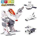 Sillbird STEM 4-in-1 Solar Science Robot kit for Kids, Educational Space Moon Exploration