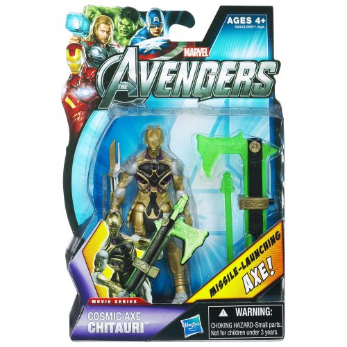 Marvel The Avengers Movie Series Cosmic Axe Chitauri 3.75 inch Action Figure