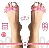 Gel per dita e Barelle kit Pink by Peditate sollievo immediato migliore alluce valgo correttore martello supporta National Breast Cancer Foundation yoga Toes nail pedicure separatori