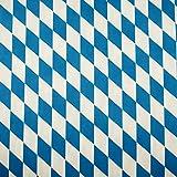 Stoffschreinerei Baumwollstoff (Bayernraute weiß blau)