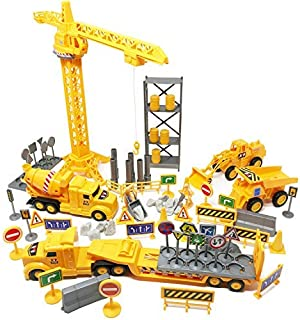 Boley 100-Piece Construction Project and Vehicles Play Set - Variety Pack of Construction Toys Cars Vehicles and Playset Toy Accessories for Boys, Girls, and Toddler Builders