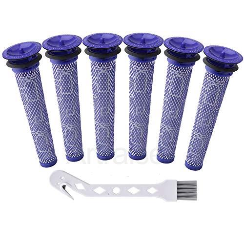 Artraise DC58 Filter für Dyson 6 Stück Waschbar Ersatz Filter für Dyson DC58 V6 V7 V8 DC59 DC61 DC62 Animal Staubsauger Teile und Zubehör Ersetzt – Teil # 965661–01