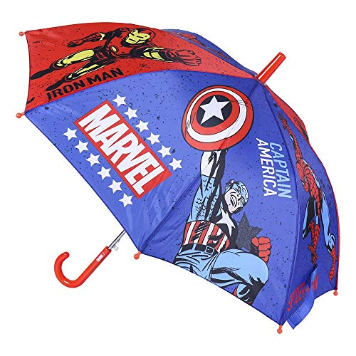 CERDÁ LIFE'S LITTLE MOMENTS- Paraguas Automático Infantil Heroes Licencia Oficial Marvel, Color Azul Marino (2400000537_T45C-C55)