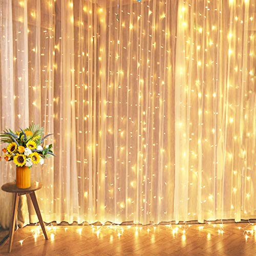 Christmas Lights for Christmas Decorations, 10 Ft Connectable Curtain Lights with 8 Twinkle Modes Led Fairy Lights for Bedroom, Outdoor String Lights for Wedding Decorations Indoor Twinkle Lights