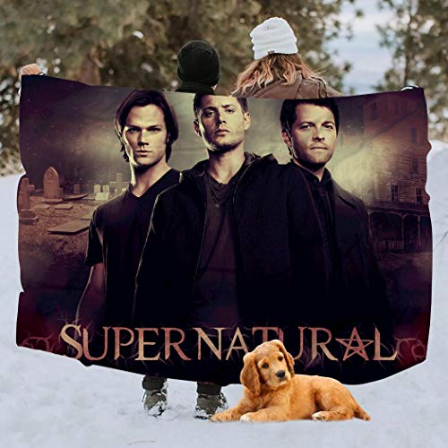 Amazing Pickle Supe-RNA-tu-RAL Dean Sam Winchester Brothers Fleece Blanket Throw Soft Plush Warm Blanket for Autumn Winter,Throw 40X50inch