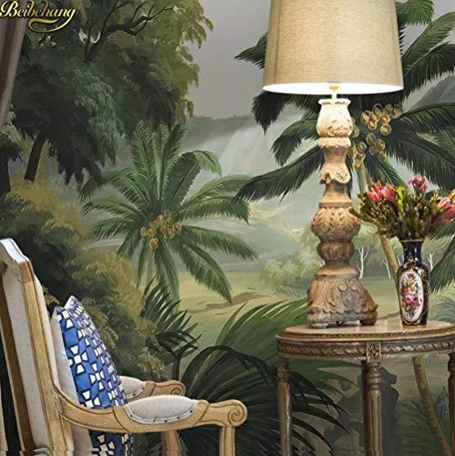 Modern, kleurrijk fotobehang van wandafbeeldingen van middeleeuwse wandafbeeldingen uit het regenwoud Tropical Del veren uit het bos palmen voor 3D-behang voor de slaapkamer van Del Sal 430*300 430*300
